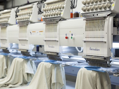photo of embroidery machine at WCBA