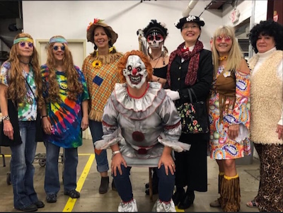 group Halloween photo